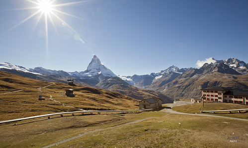 sunset mountain switzerland valley zermatt matterhorn 日落 瑞士 riffelberg 采尔马特