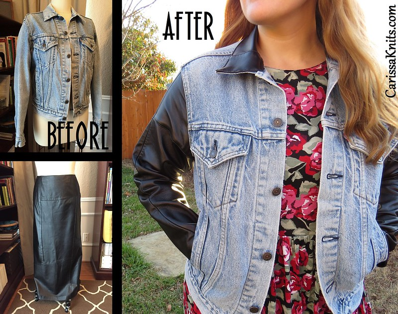 Denim & Leather Jacket - After