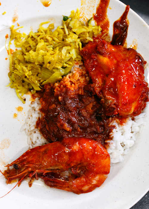 Line Clear Nasi Kandar with Prawn