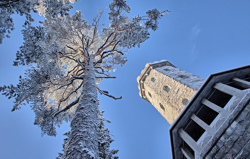 park old travel blue winter sky white snow cold building tree tower ice nature stone rural forest finland season observation landscape frost european looking view outdoor snowy hill lookout naturereserve freeze environment tall viewpoint pespective aulanko