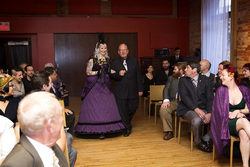A goth history nerd wedding as seen on @offbeatbride #weddings #goth8