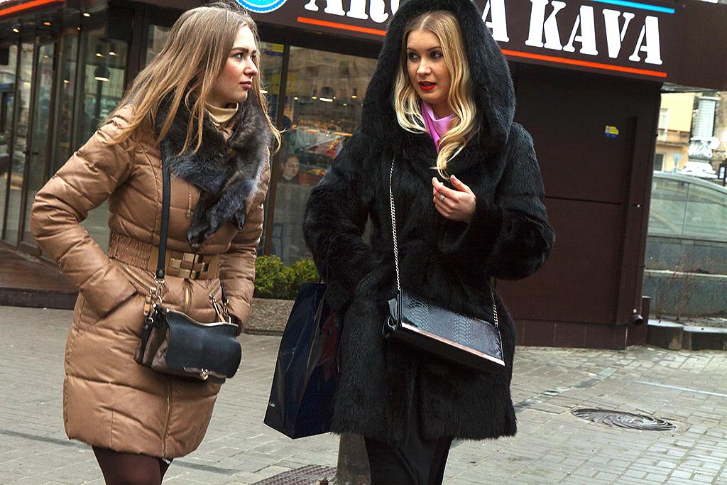 Two women on Maidan Square--Kiev 2