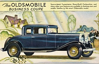 1931 Oldsmobile Business Coupe (Canadian Postcard)