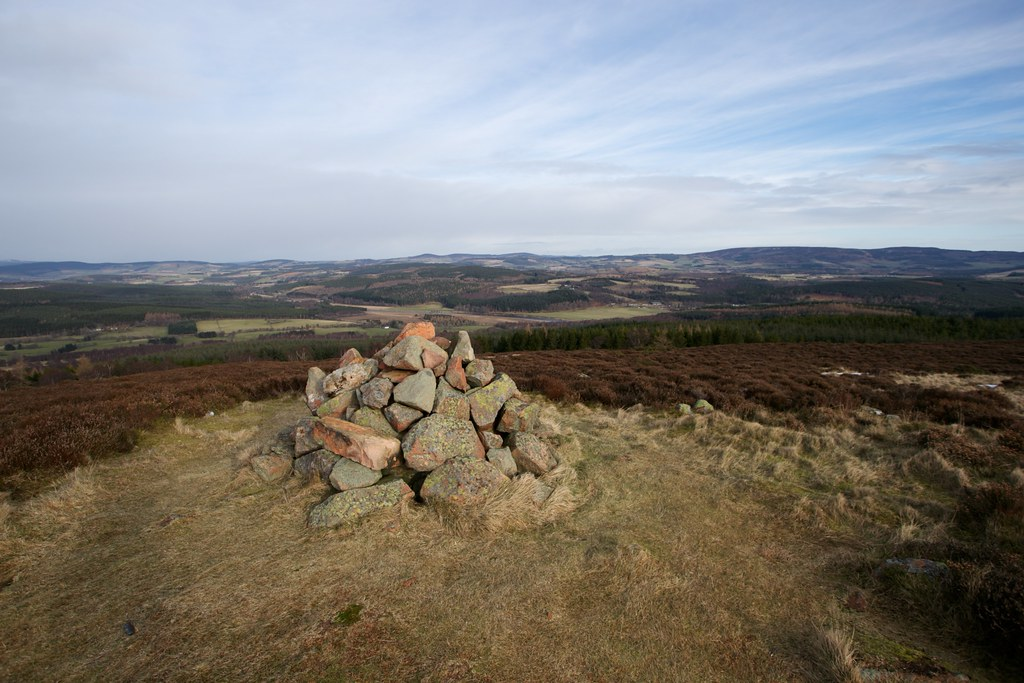 Across Deeside from Tom's Cairn
