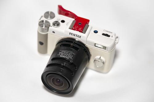 PENTAX Q with FUJINON CSmount lens