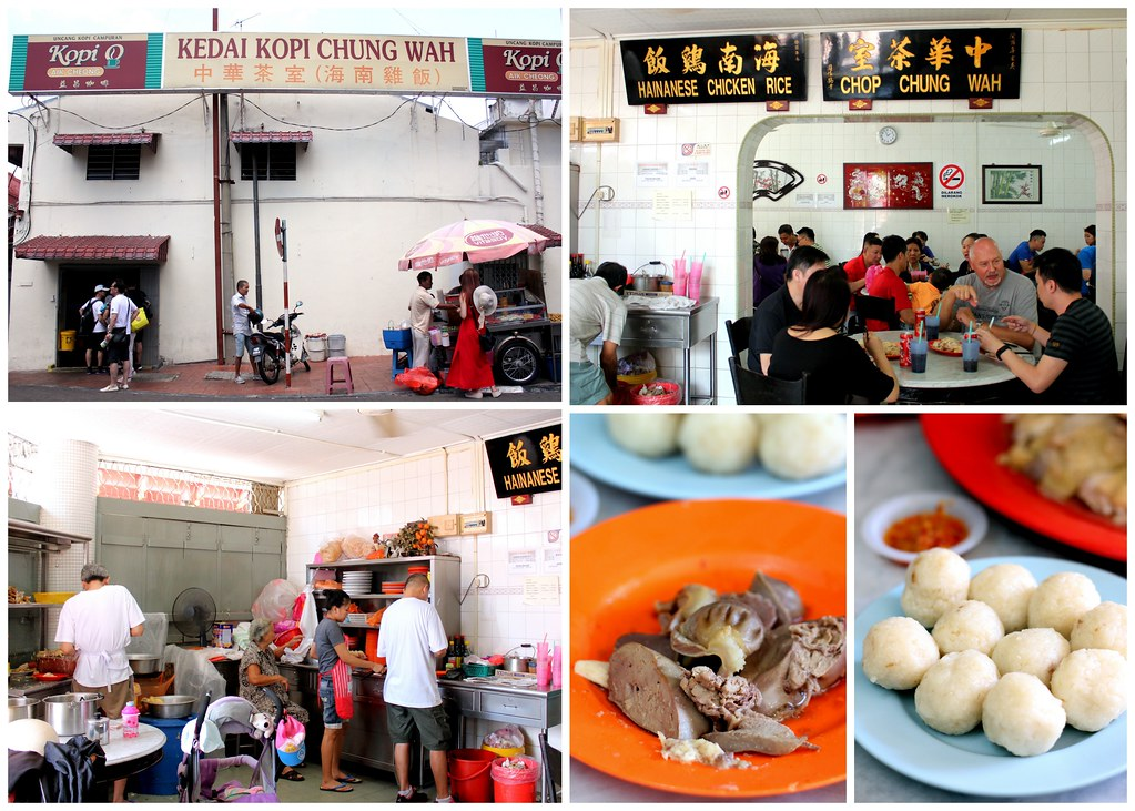 Malacca Food Guide: Chung Wah chicken rice balls shop interior
