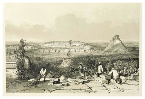 003-Vista general de las Monjas en Uxmal-Views of ancient monuments in Central America…1844- F. Catherwood