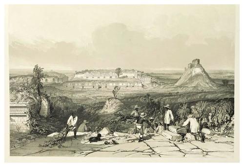 003-Vista general de las Monjas en Uxmal-Views of ancient monuments in Central America…1844- F. Catherwood
