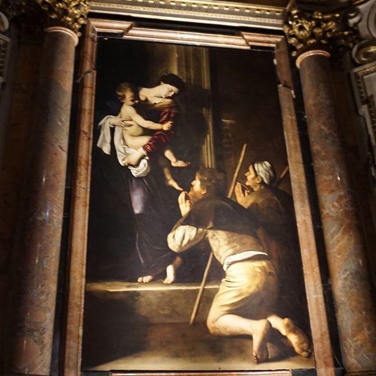 Madonna di Loreto by Caravaggio at my New favourite church in Rome 💓⛪ #caravaggio #art #churchesofrome #hiddengem #Rome #artinrome