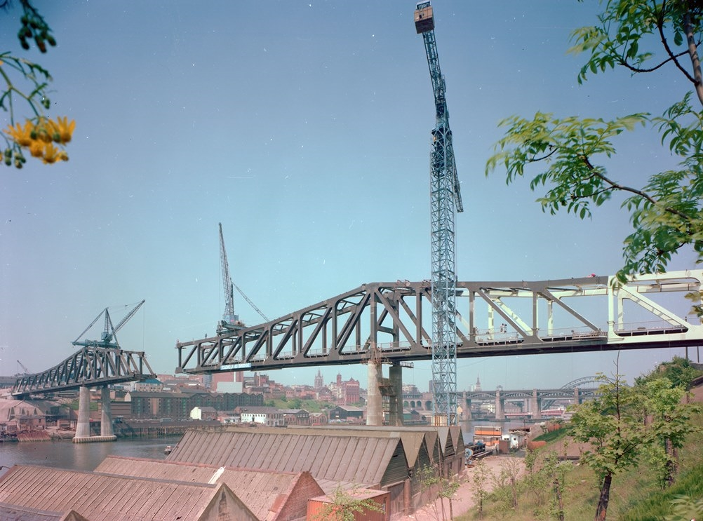 Metro Bridge nearing completion, 1978