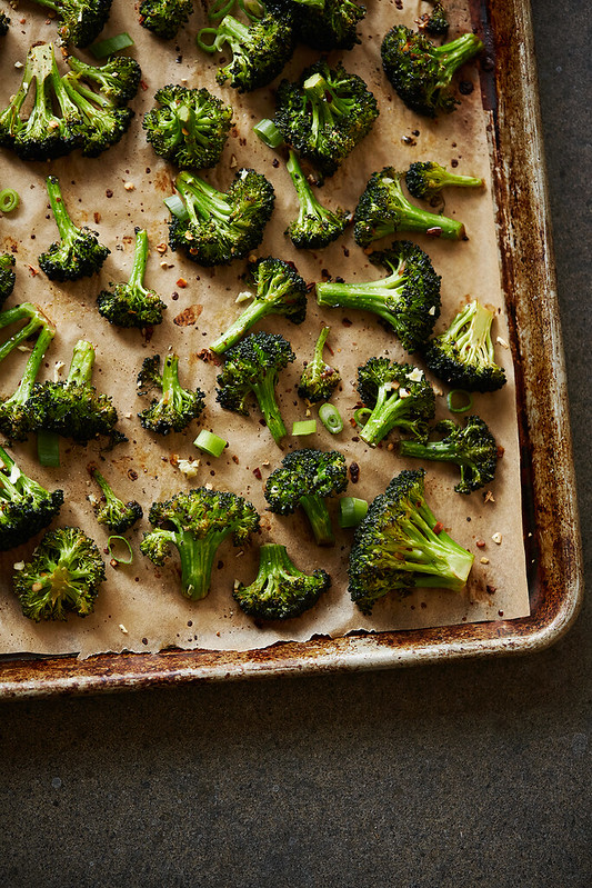 Spicy Garlic Roasted Broccoli