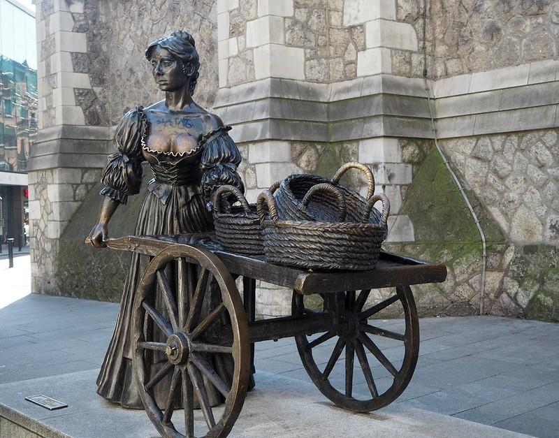 mollymalonestatueP4171531, statue, patsas, molly malone, molly malone statue, dublin, ireland, irlanti, Suffolk St, Dublin 2, Irlanti, suffolk street,