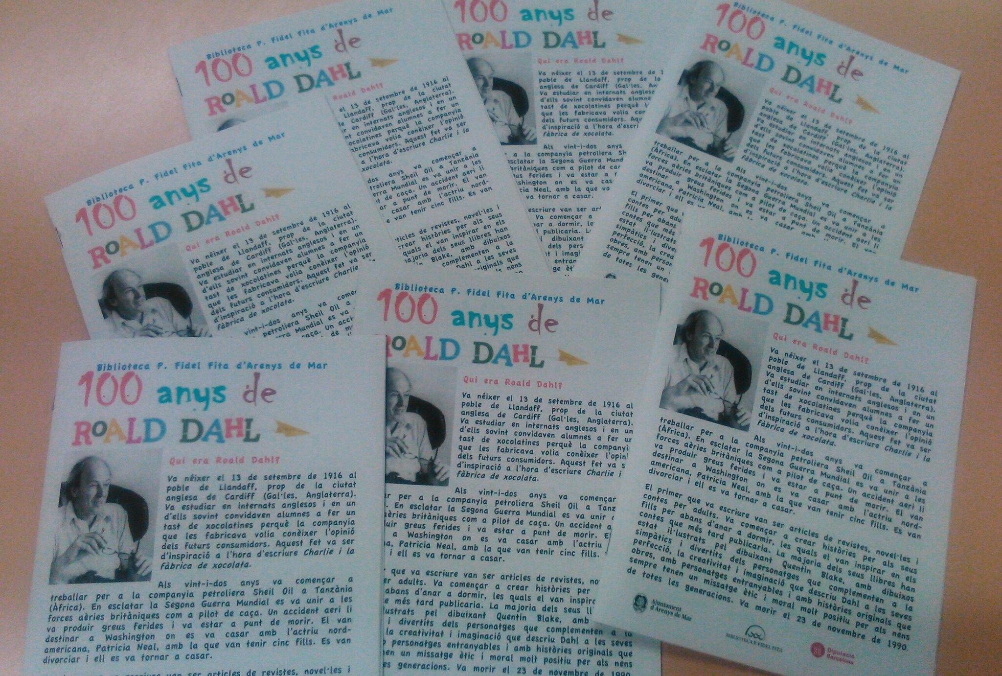 100 anys del naixement de Roald Dahl