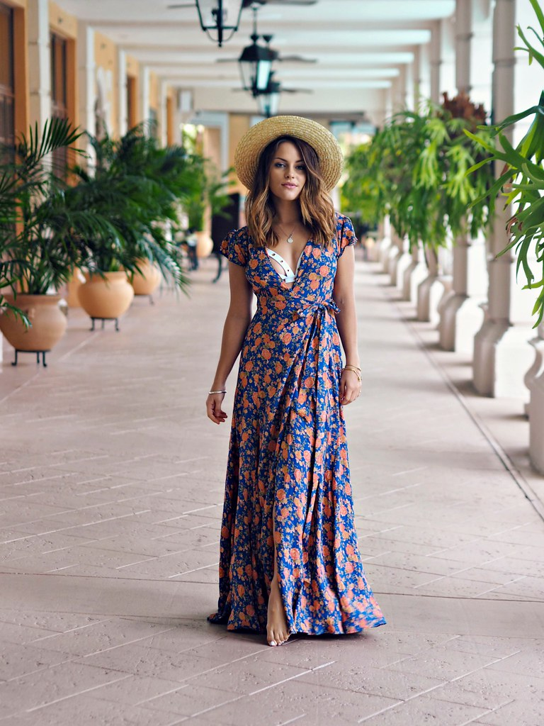 REVOLVE floral maxi dress the little magpie