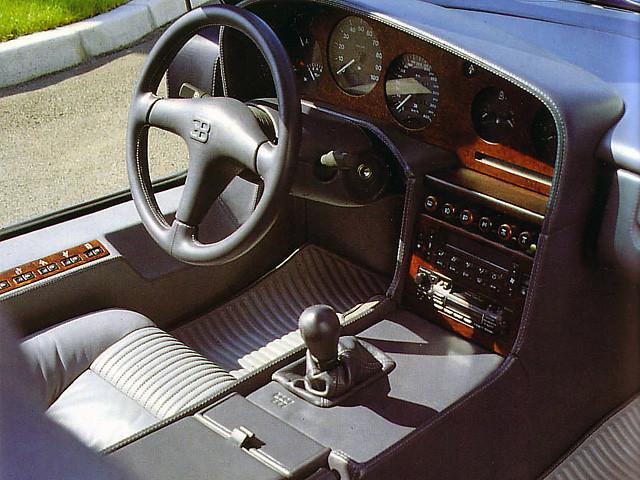 Салон Bugatti EB110 GT Prototype. 1991 год