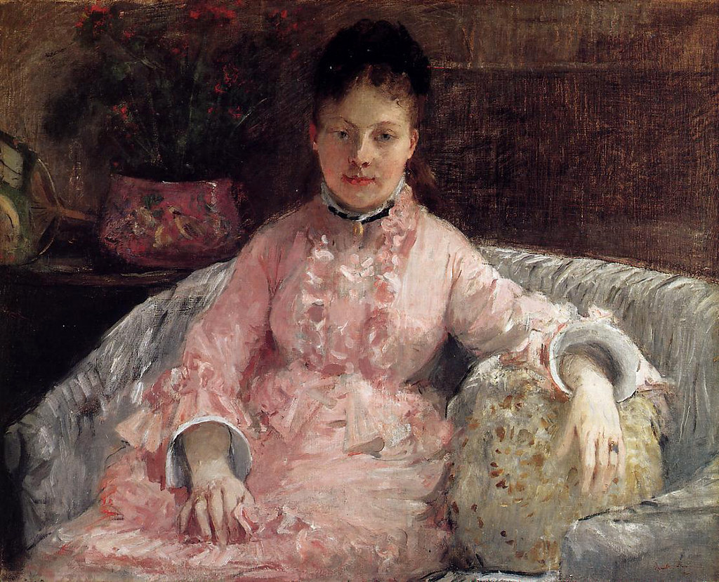 The Pink Dress by Berthe Morisot, c.1870