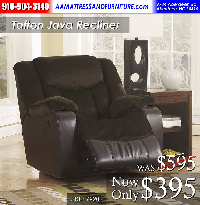 Tafton Java Recliner RWB