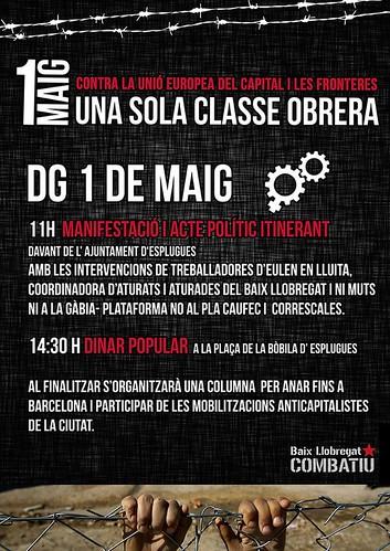 Actes 1r maig 2016 Baix Llobregat