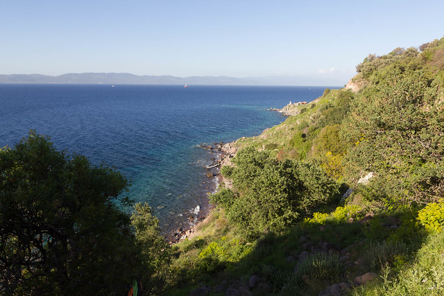 Coastline west of Korakas and Turkey