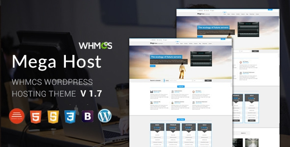 ThemeForest Megahost v1.7 - Hosting Wordpress Theme with WHMCS