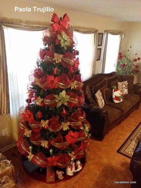 Inspiraciones manualidades y reciclaje rboles de - Arboles de navidad decorados 2017 ...