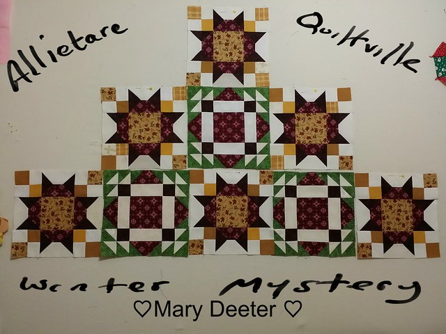 Part 6 of Allietare Winter Mystery Quilt