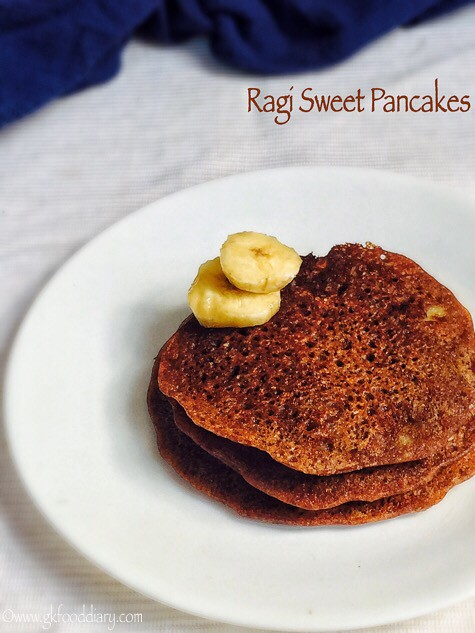 Ragi pancakes recipe for babies, toddlers and kids3