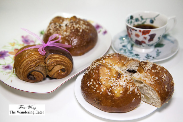 Pain au Chocolat des Amoureux &  Candied Ginger & Dark Chocolate Viennois (Bread of the Month - Feb 2016)
