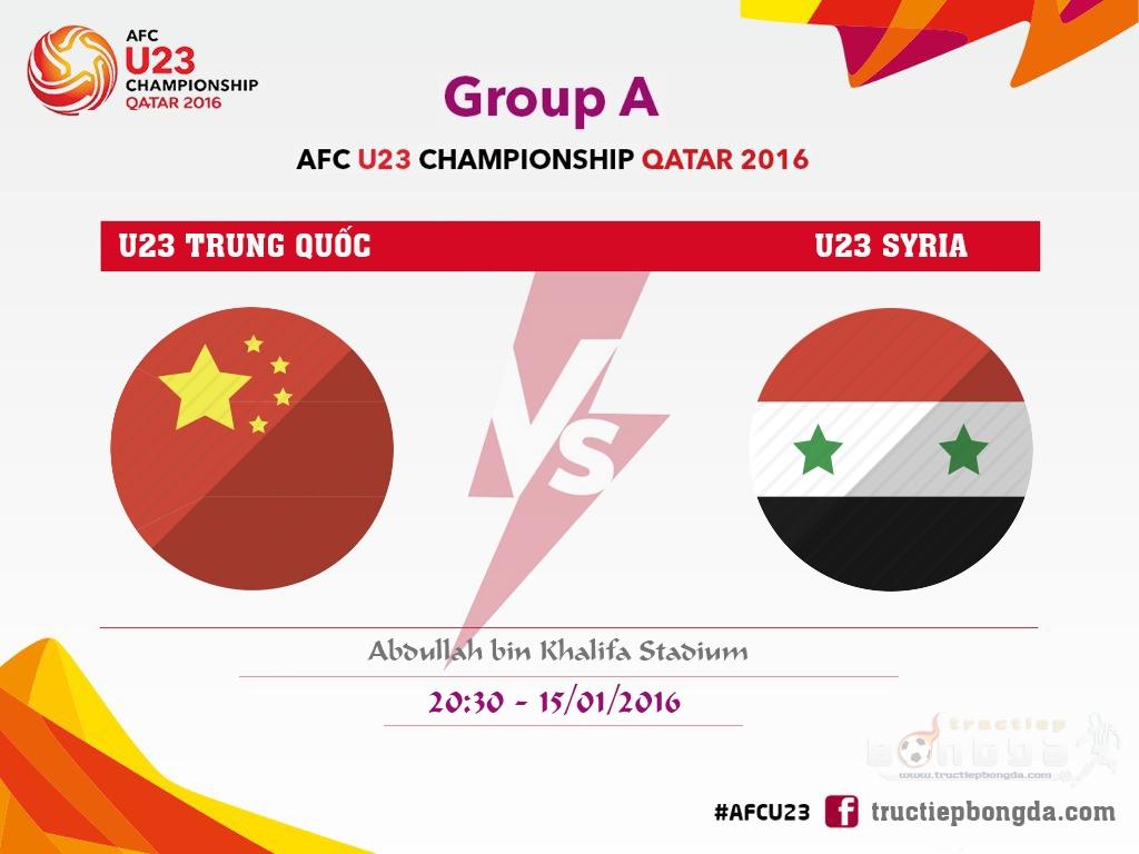 U23 Trung Quốc vs U23 Syria