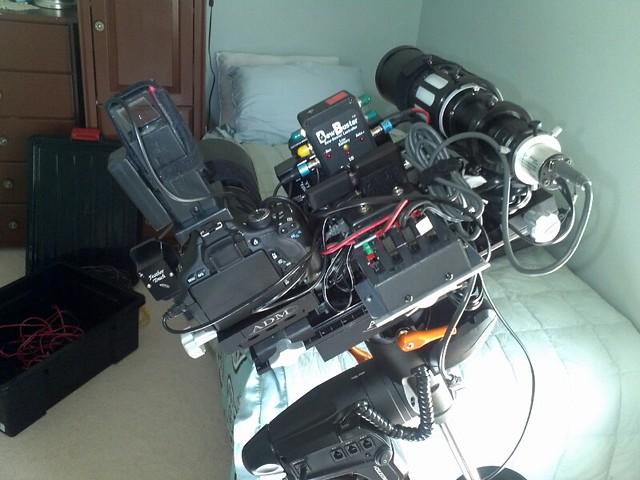 Side by side DSLR setup 2