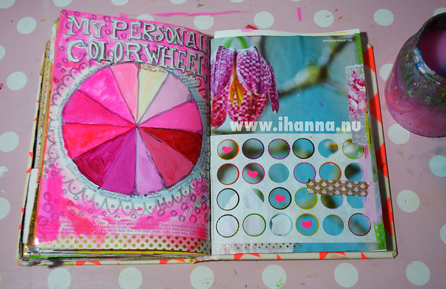 Art Journal Page: the iHanna Color Wheel
