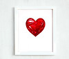 Printable crimson garnet heart 8 10