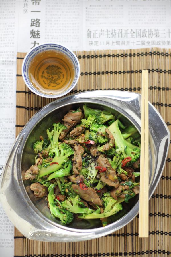 Wok di manzo e broccoli