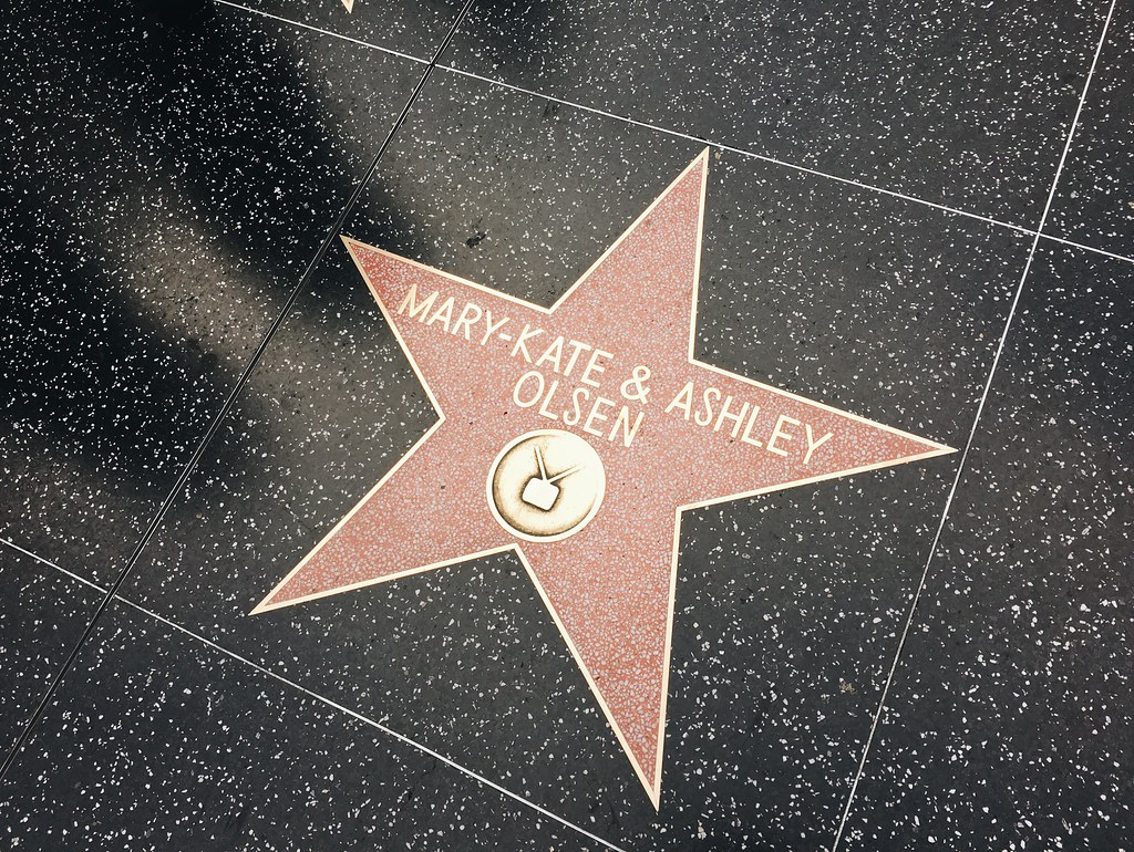 Los Angeles Walk of Fame Mary-Kate und Ashley Olsen Stern