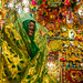 bride in the decorated room for traditional wedding, Hormozgan, Bandar-e Kong, Iran by Eric Lafforgue