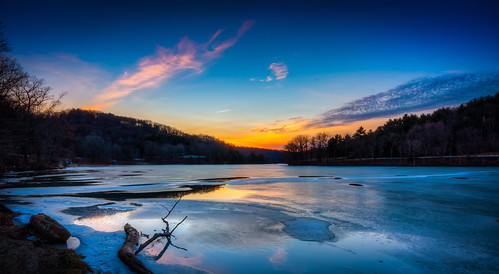 sunset sky lake clouds frozen pittsburgh outdoor pennsylvania raccoonlake raccooncreekstatepark