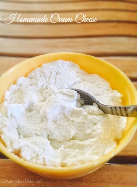 Homemade Cream Cheese recipe for Babies, Toddlers and Kids3