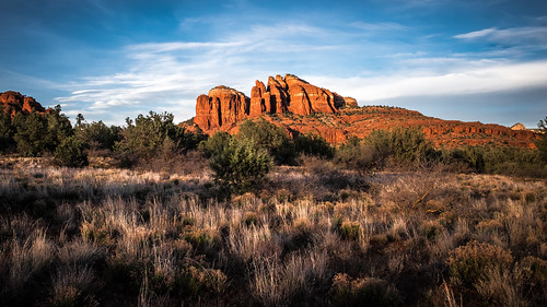 travel trees sunset red arizona sky orange cliff usa sun mountain mountains travelling rock clouds landscape geotagged photography countryside us photo rocks unitedstates cathedral hiking sedona landmark hike onsale