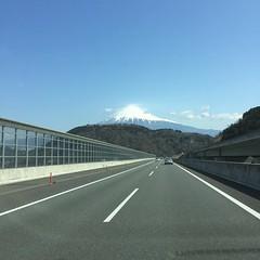 今日の富士山はとても綺麗!