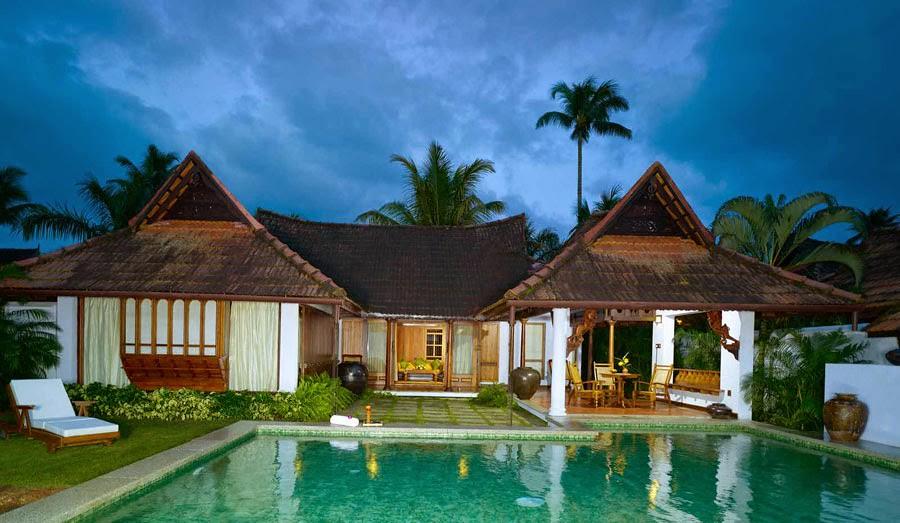 Kumarakom lake resort heritage hotel pool villas for Pool design in kerala