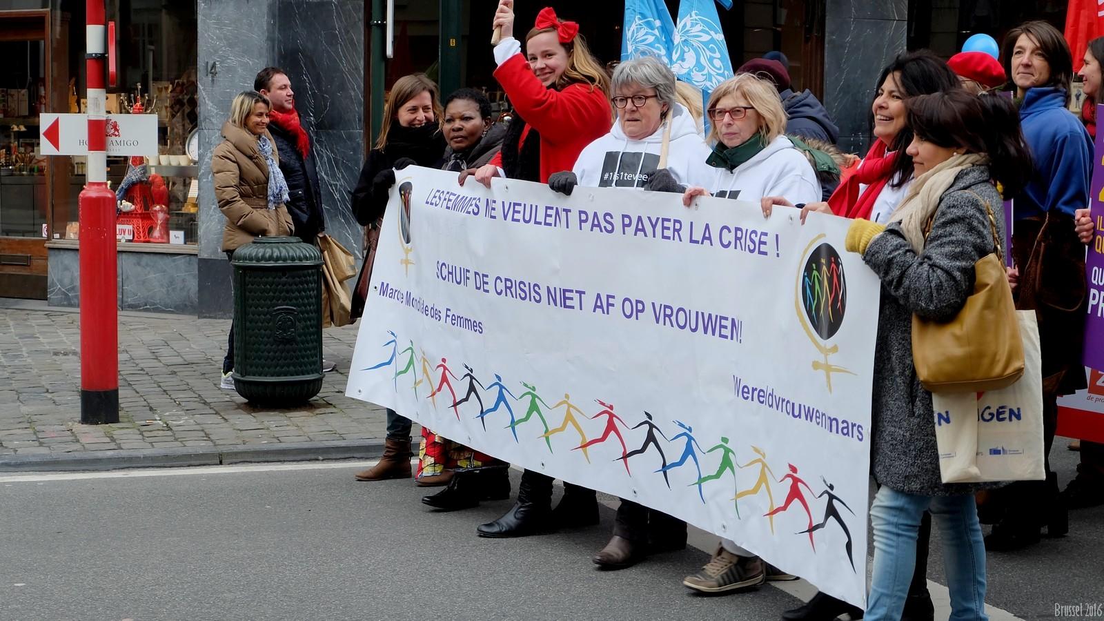 "International Women""s Day Demonstration, Brussel, Belgium"