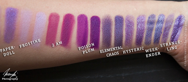 lila swatches