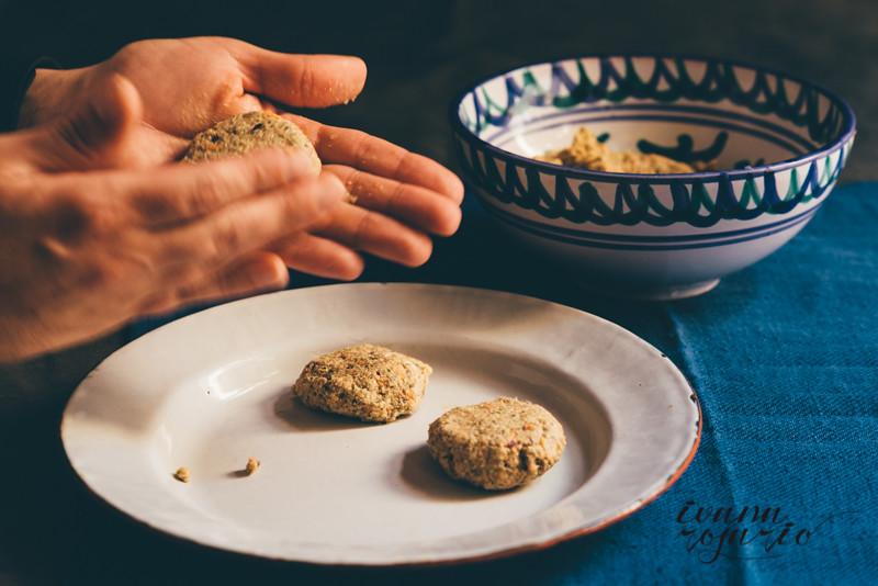 falafel de zanahoria y quinoa