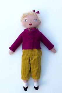 blond girl doll