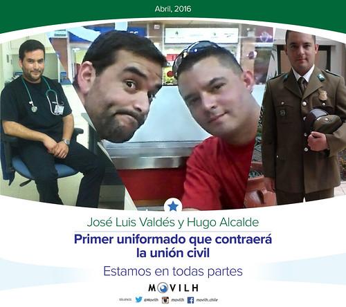 Carabinero anuncia que contraerá la union civil con su pareja del mismo sexo / @Movilh 2016