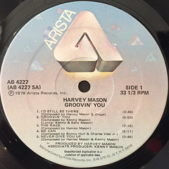 HARVEY MASON:GROOVIN' YOU(LABEL SIDE-A)
