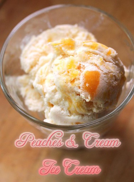 Decadent Caramelized Peaches & Cream Ice Cream
