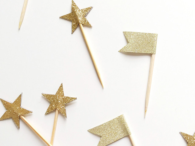 Gold Star and Flag Toppers
