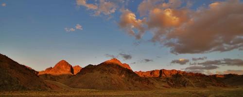 blue sunset orange mountains clouds sunrise landscapes asia mongolia centralasia argali ibex gobidesert snowleopards protectedareas