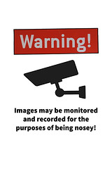Nosey parker warning by #fftw